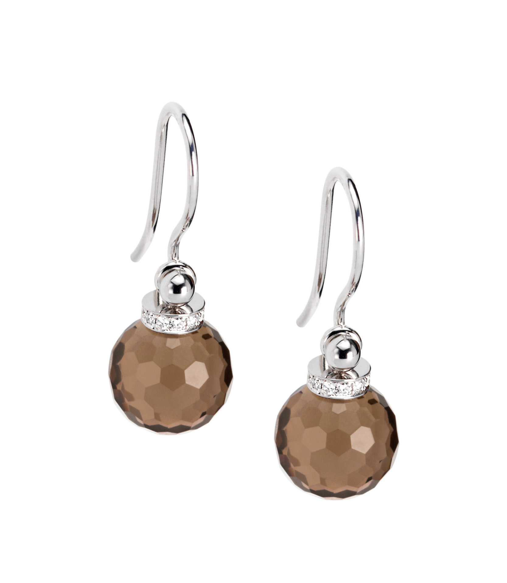 earrings smokey quartz and diamonds Furrer Jacot
