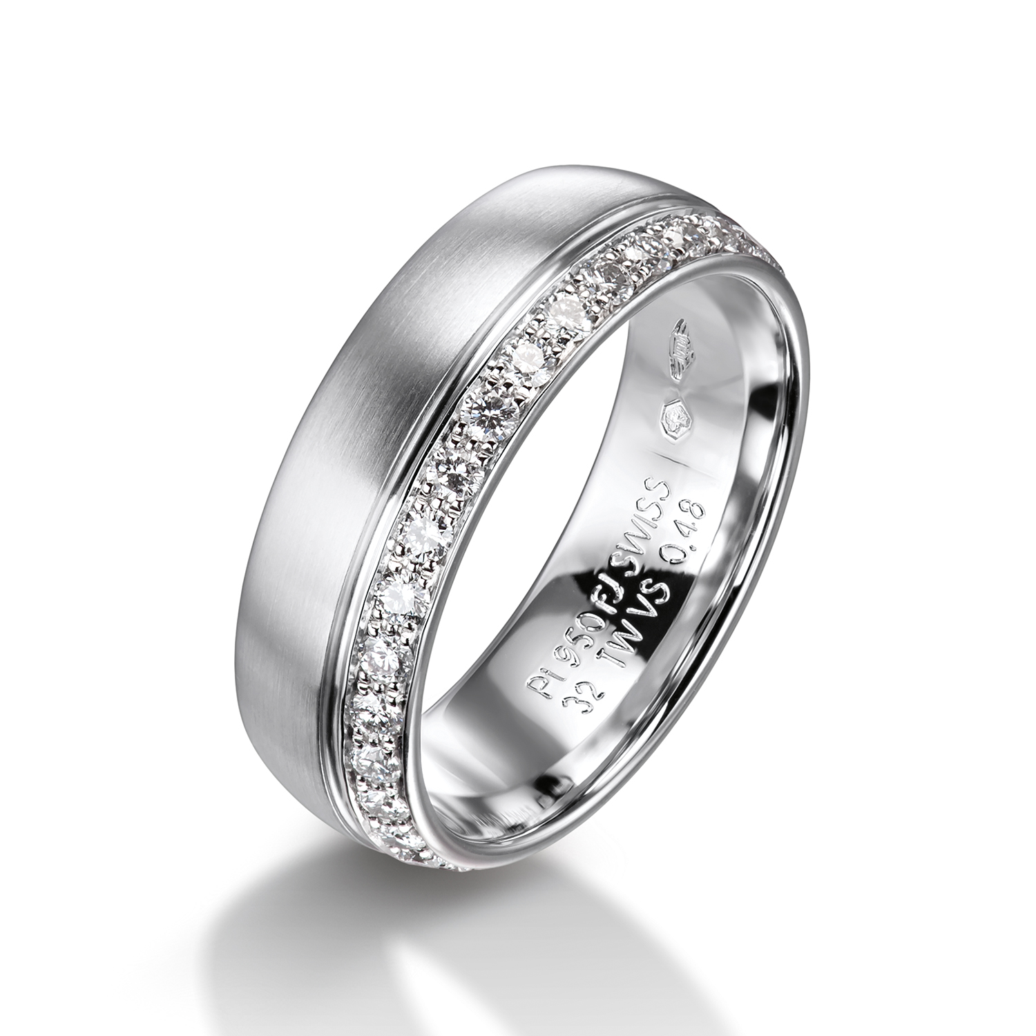 Diamond rings in gold, platinum and palladium with diamonds Furrer Jacot