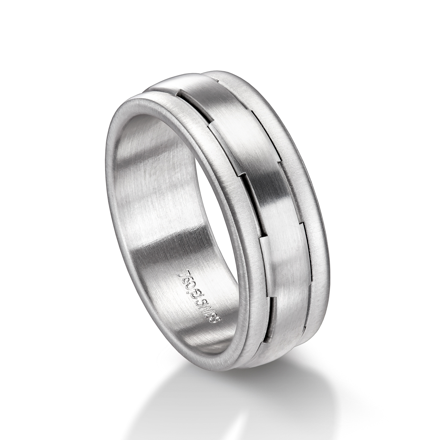 Man's world wedding rings in white gold