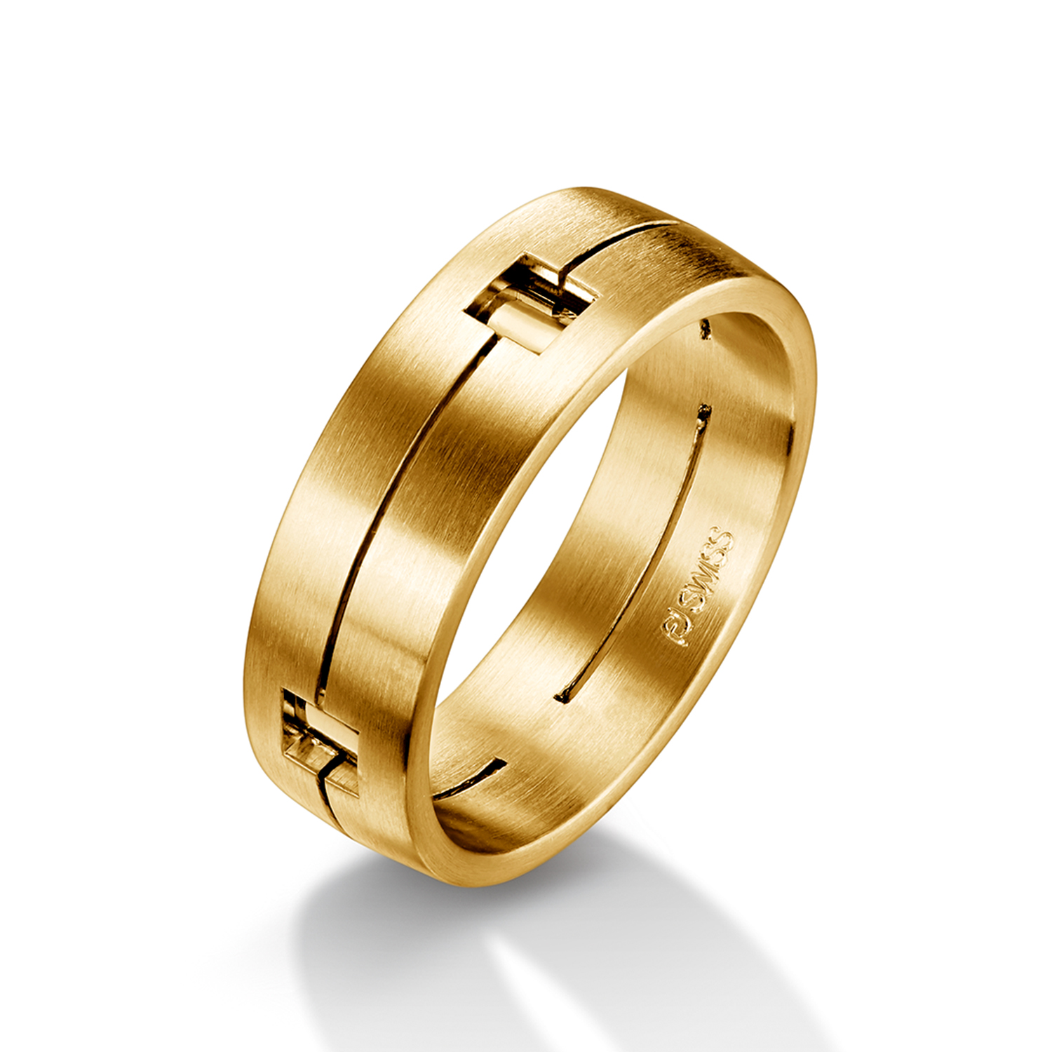 Man's world wedding rings in yellow gold