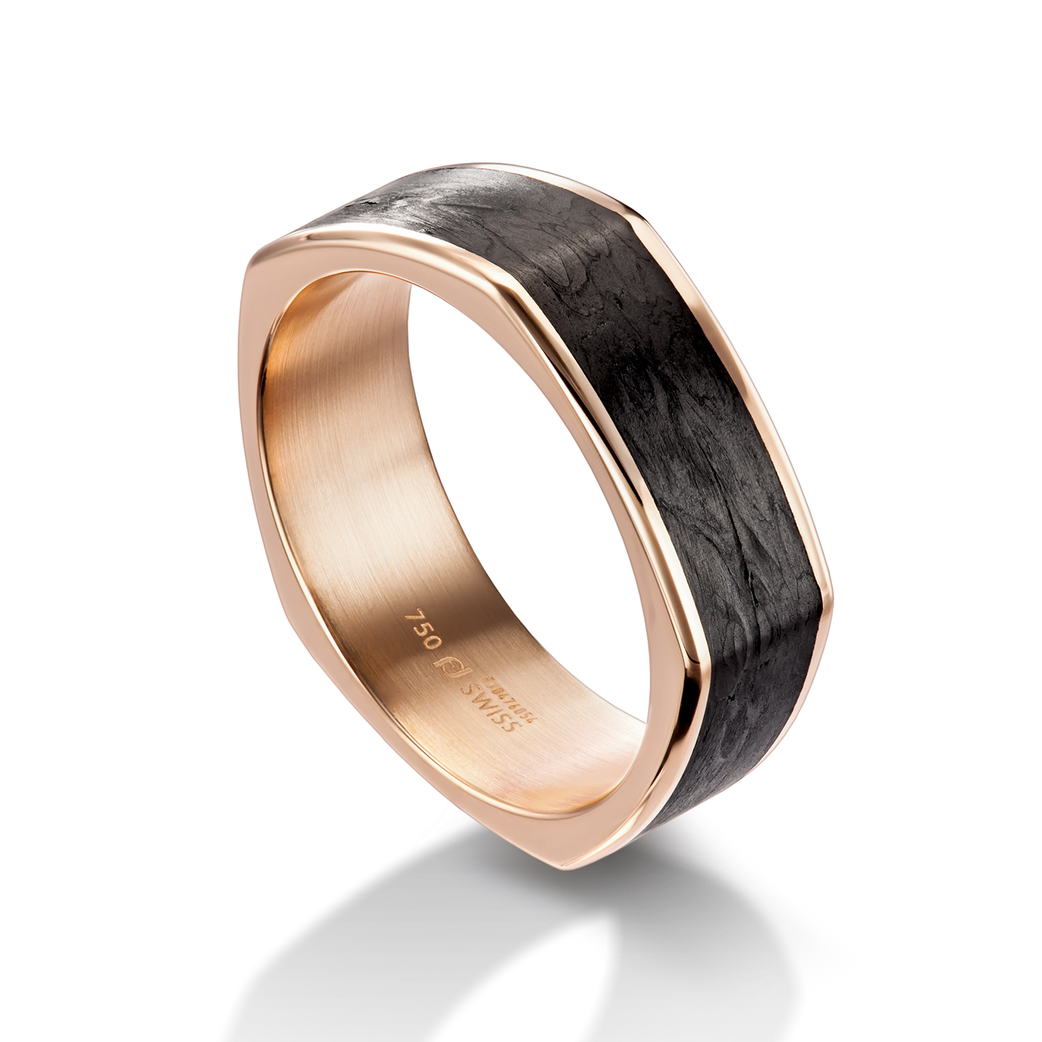 gents ring with carbon