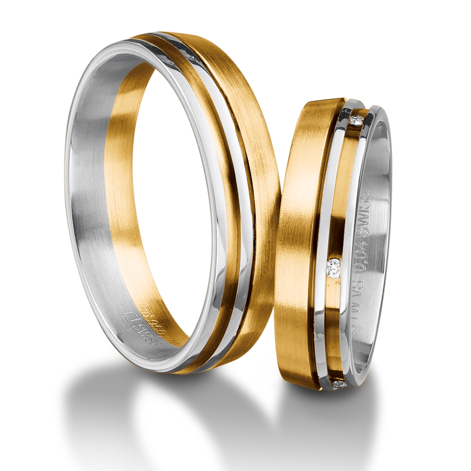 It is just a picture of Wedding Multi-colored Wedding Rings yellow and white - Furrer Jacot