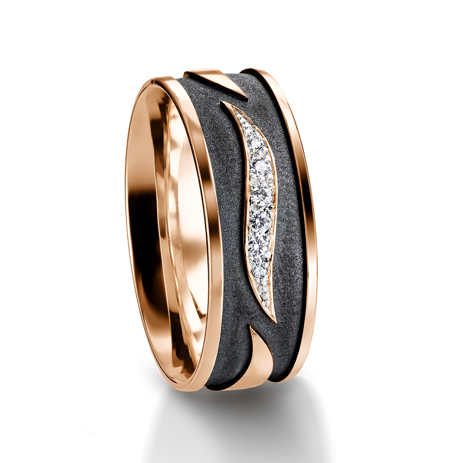 Diamond rings in gold, platinum with diamonds Furrer Jacot