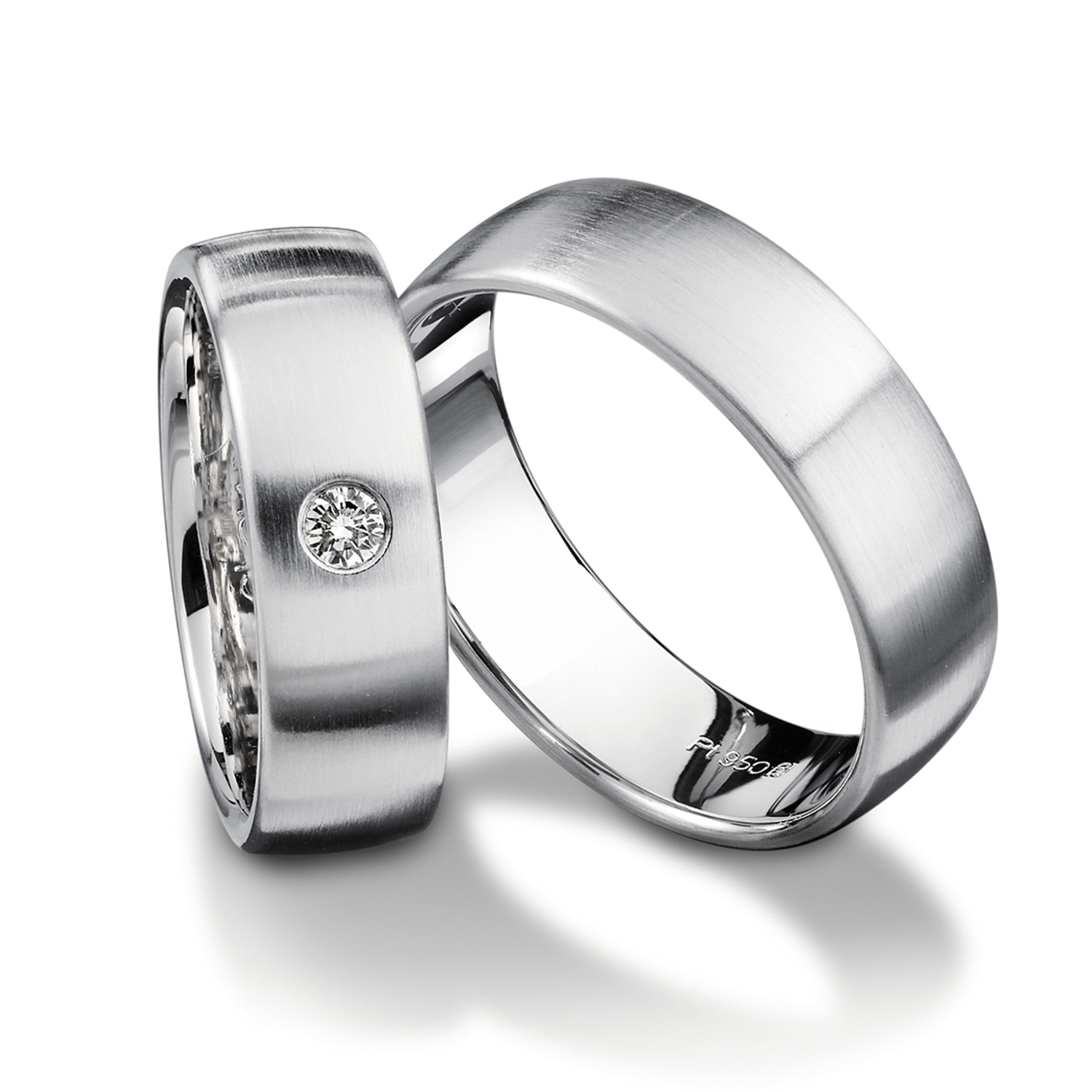 wedding bands, wedding rings, in gold, platinum, palladium, bicolor, with diamonds, Ringdividuell, individual